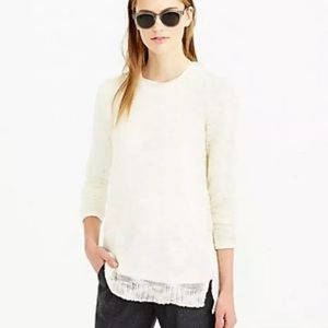 J Crew | Open Knit Pullover Sweater White Ivory